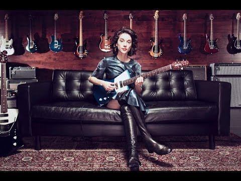 Annie Clark shares the inspiration behind her new signature Ernie Ball Music Man guitar, which was envisione...