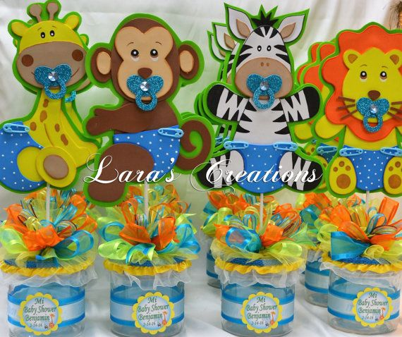 Jungle Safari party centerpiece. Baby Shower party centerpiece.   by LarasCreationsShop