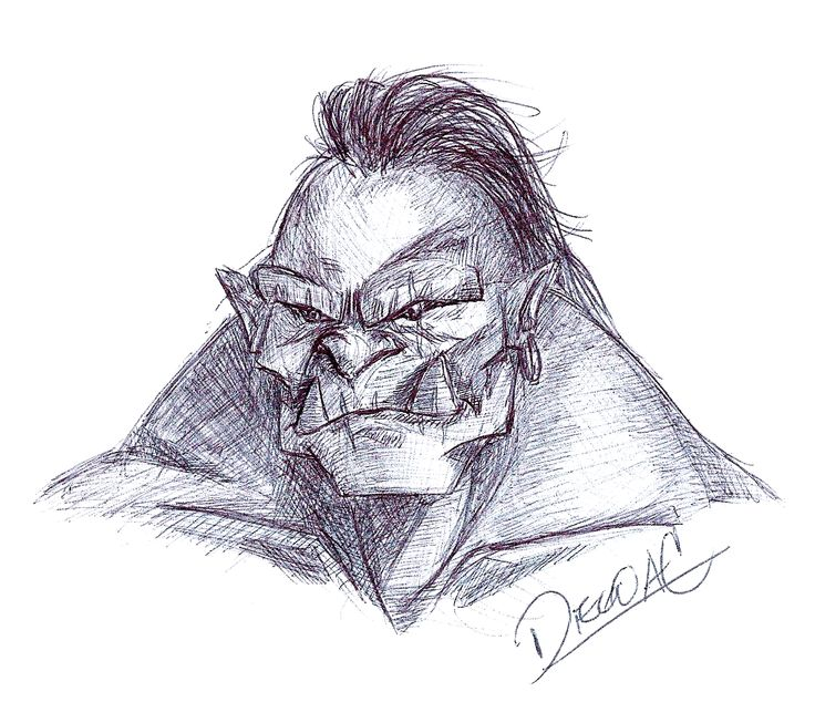 Orco character- character design- sketch
