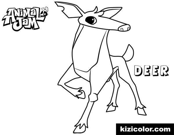 Animal Jam Deer Free Printable Coloring Pages For Kids Coloring Coloring For Kids Free Printable Coloring Pages Coloring Pages For Kids