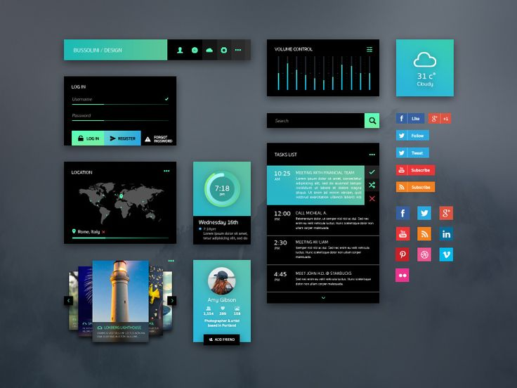 GreenLight UI Kit #ui #design #uikit