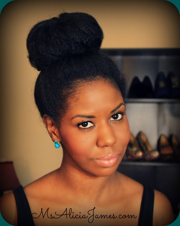 Fantastic Big High Bun On Natural Hair Black Hairstyles Pinterest Hairstyles For Women Draintrainus