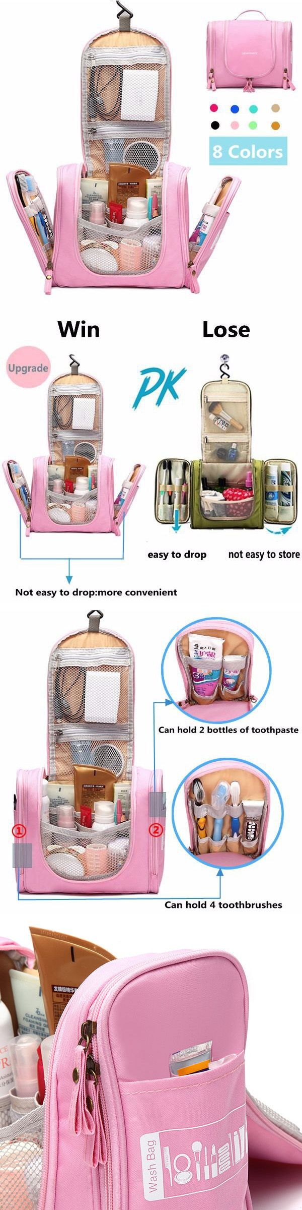 $12.99 Woman Travel Storage Bag ,Polyester Nylon Waterproof Multifunction Storage Bag,Bathroom Bag,Bathroom Outfit,Storage Bag, Cosmetic Bag