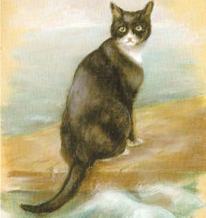 Oscar was ship's cat aboard the Bismarck, followed by HMS Cossack and then the aircraft carrier Ark Royal. All three ships were sunk during WWII and, three lives later, Oscar retired to a land-lubber's life in Belfast.