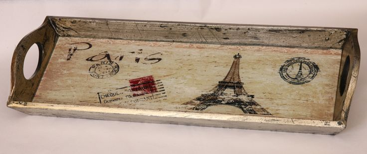 Δίσκος Ξύλινος με τζάμι σε vintage ύφος!