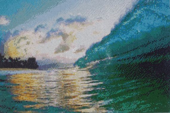 Sun in the Sea - Diamond Painting Home Decoration Finished Completed Wall Decor Embroidery Cross Stitch Rhinestone Needlework Mosaic