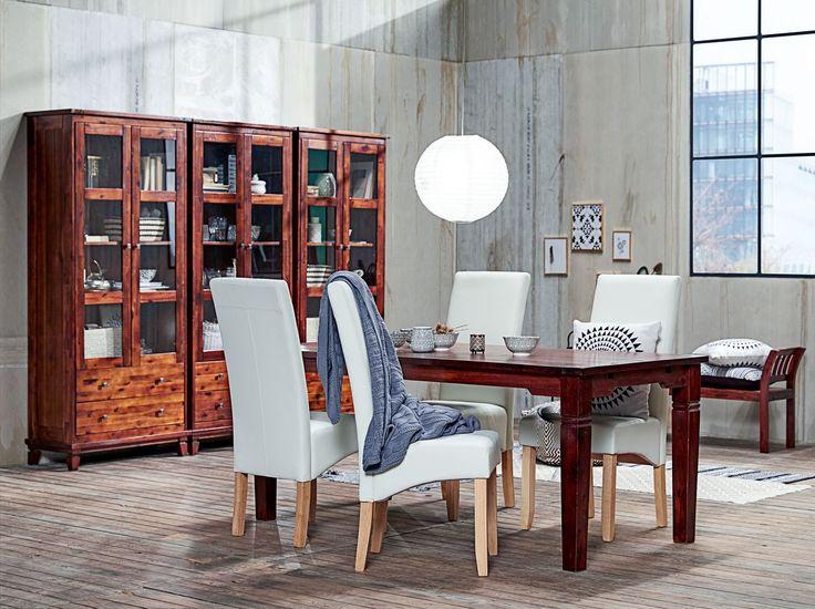 Industrial vintage BAKKELY tuoli + FREDERICA vitriini - Jysk