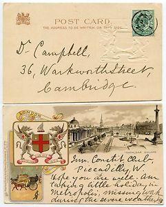 GB 1902 NEWSPAPER BRANCH CDS on EARLY TUCK HERALDIC PPC KE7th 1/2d  | eBay