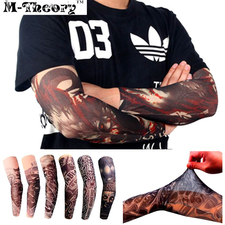 M-theory 3D Tattoos Sleeve Elastic Arm Stockings Leggings Temporary Body Makeup 3d Henna Tatuagem Flash Tatoos Body Arts Tatto
