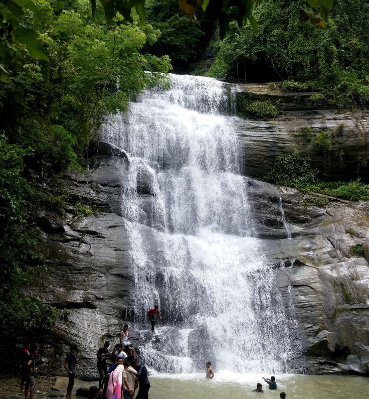 Khoiyachora Waterfall. Chittagong, Bangladesh. Khoiyachora