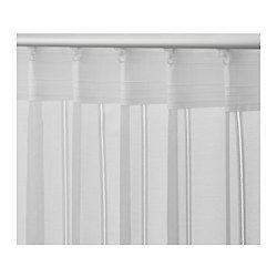 IKEA - KLOCKMALVA, Gardinenstore/Paar, Durch Schlaufen an der Oberkante lassen sich die Gardinen direkt an einer Stange aufhängen.Mit Gardinenband; lässt sich kombiniert mit RIKTIG Haken einfach in effektvolle Falten legen.Blickdichte Gardinen schirmen Lichteinfall effektiv ab und sorgen für Privatsphäre.