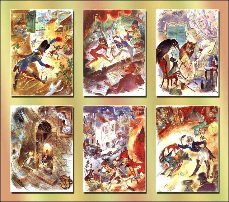 """Szancer, ilustracje """"Pinokio"""", wyd. 1989"""