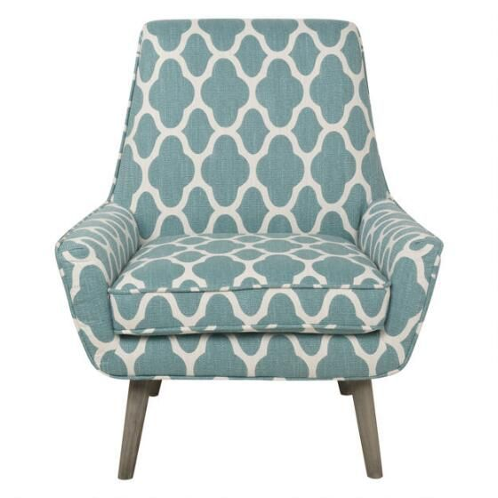 aqua accent chair mid century upholstered dining chairs poppy filigree urban barn home decor discover ideas about living room redo