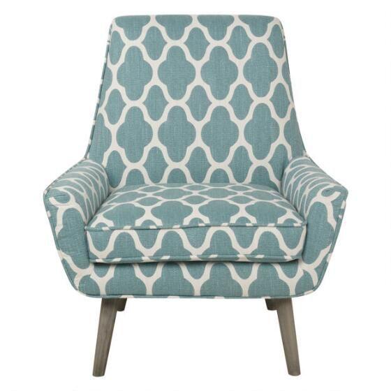 Best Poppy Accent Chair Filigree Aqua Urban Barn Living Room 640 x 480