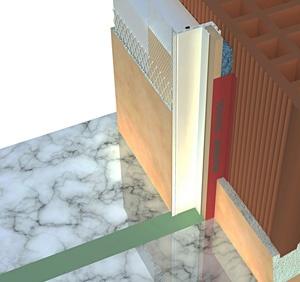C1 Super  Sistema per infissi. Soluzione che valorizza al meglio le performance termiche del nodo finestra.