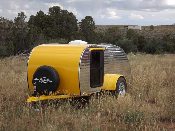 Photos of our used teardrop trailer for sale. Demo unit is currently on special.