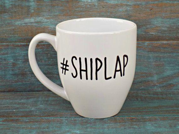 Shiplap Mug Fixer Upper Rustic Mug Joanna Gaines by TheTinyOne