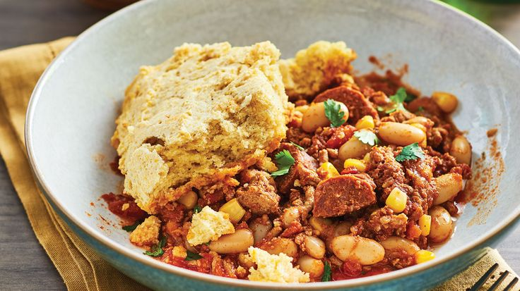 Cornbread-Topped Slow Cooker Chili