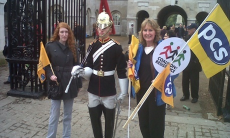 Marchers with the Household Cavalry