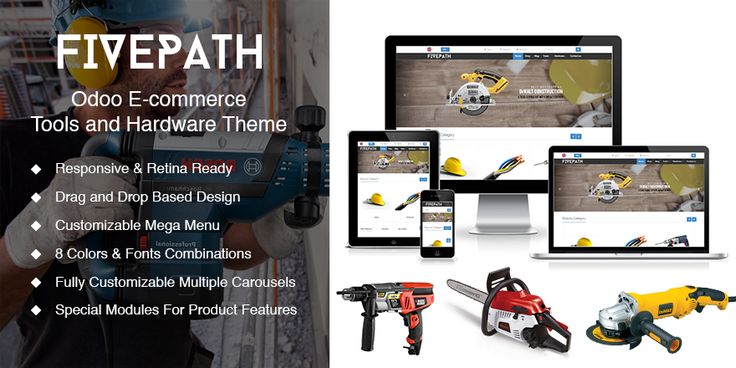 Tools and Hardware Theme for Odoo v8 Ecommerce | 73Lines