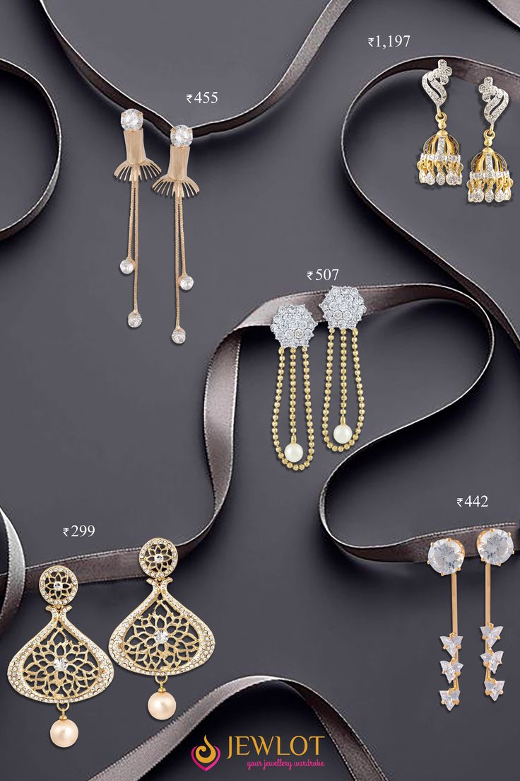Hello darlings ! Tell us which earrings will suit you the best to impress your loved ones. .Hurry Comment Below #Spreadlove <3...Love Struck @ http://jewlot.com/item/earrings/