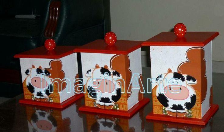 tarros vaca | adornos de cocina | Pinterest