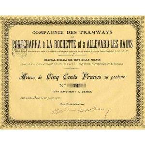 Cie des Tramways de Pontcharra à La Rochette et à Allevard-Les-Bains