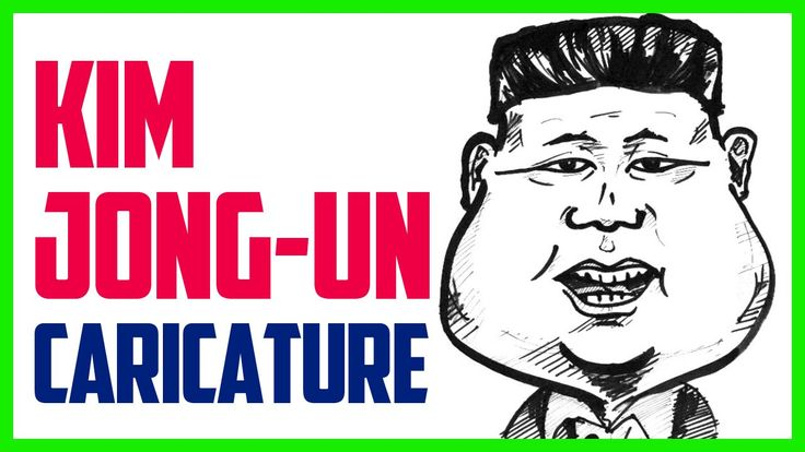 Caricature of Kim Jong-Un