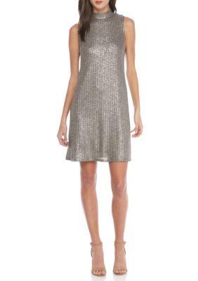 Kensie Women's Sleeveless Swing Dress - Silver - Xs