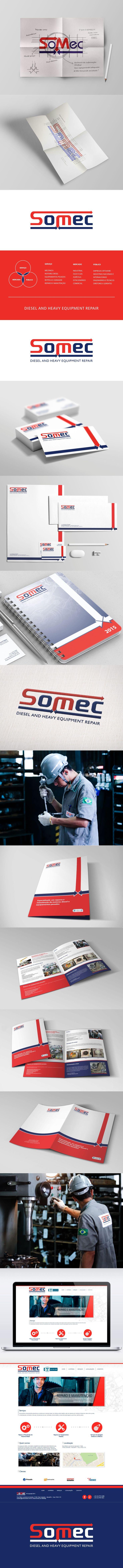 Redesign de marca para a Somec, empresa prestadora de serviços de mecânica de motores diesel e reparos de equipamentos pesados para o setor industrial onshore e offshore.  Acessem: www.somecdiesel.com.br
