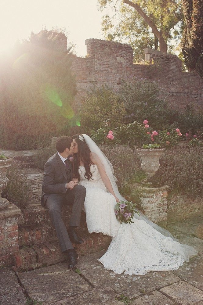 Eastwell Manor Wedding Photographer.  Bride and Groom Portraits golden hour lens flare. Relaxed, natural, quirky, fun and happy.  - www.rebeccadouglas.co.uk - Rebecca Douglas Photography