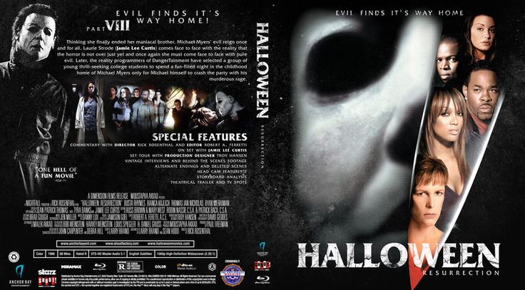 Halloween Resurrection Blu-ray Custom Cover
