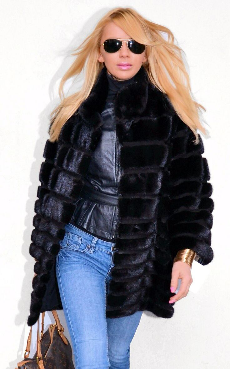 Blackglama Mink Fur Jacket  #furfashion #mink #blackglama