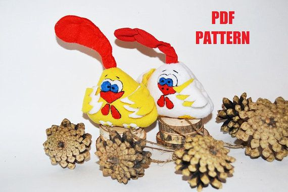 Soft toy chicken pattern pdf Chicken sewing toys by SimonsCatShop