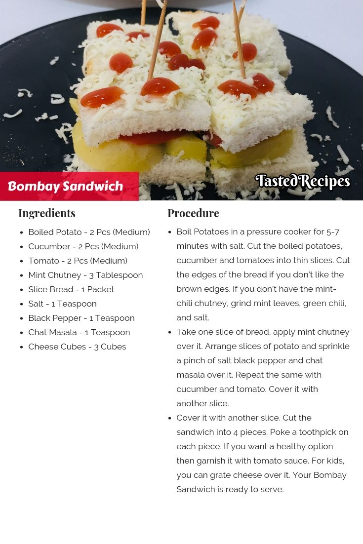 Bombay Veg Sandwich Recipe Tastedrecipes Recipe Recipes Food Tasting Food