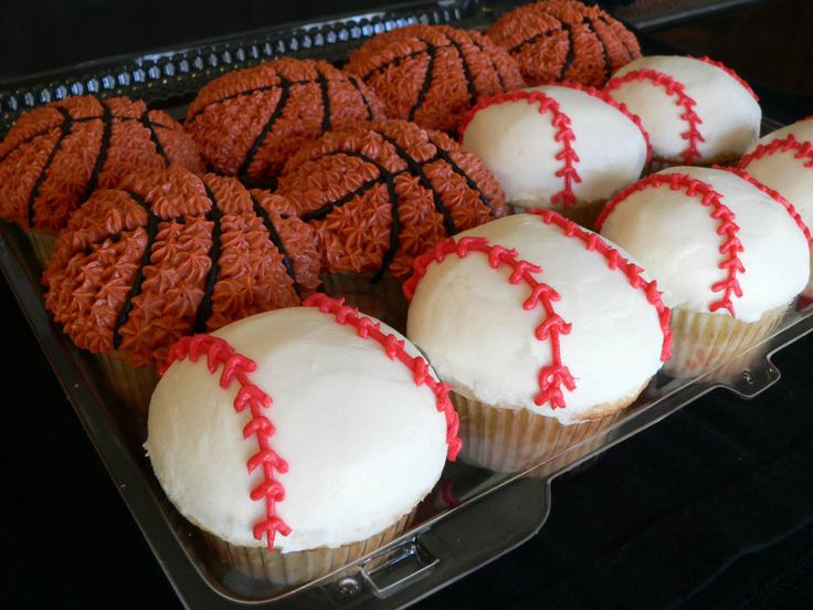 Basketball Cupcake Cake Ideas