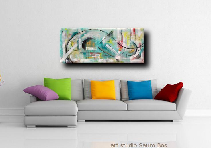 dipinti astratti olio su tela fatti a mano