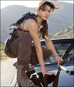 Michelle Rodriguez - I love this woman! She is incredibly beautiful, but that's not her whole image: she is a BAMF! I love that she represents those of us who don't fit as well into a typical rom-com, and that she's not afraid to be tough.