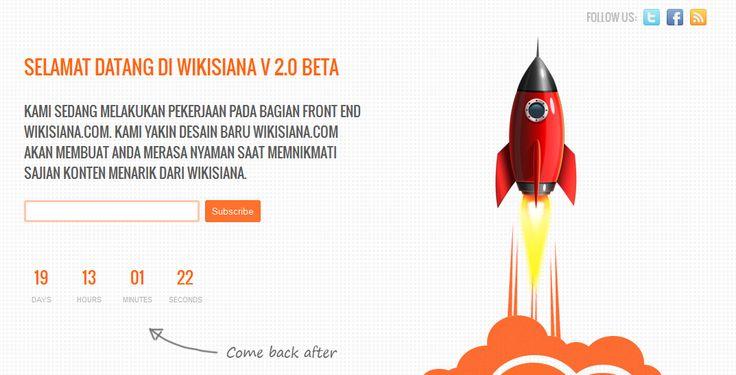 http://wikisiana.com sedang maintenance... 19 hari lagi...