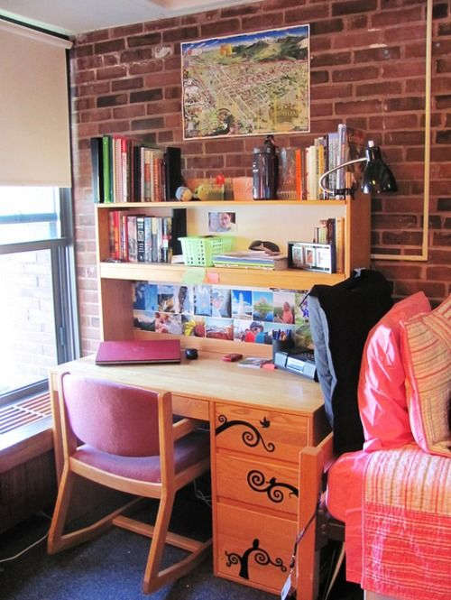 find this pin and more on interior design dorm rooms by noelle_steele - Dorm Room Desk Ideas
