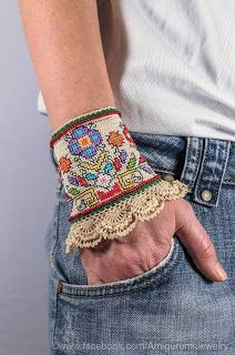 Tina's handicraft : crochet & embroidery bracelet
