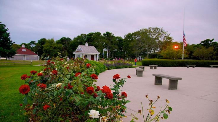 Jardins do Memorial John F. Kennedy Hyannis, em Hyannis, estado de Massachusetts, USA.