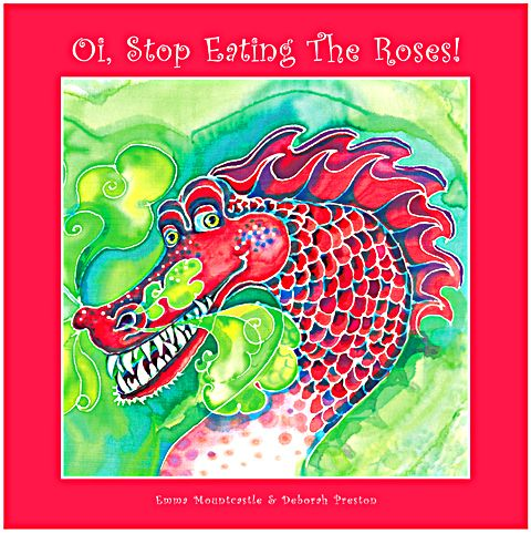 'Oi Stop Eating The Roses' - a unique, beautifully illustrated personalised children's book