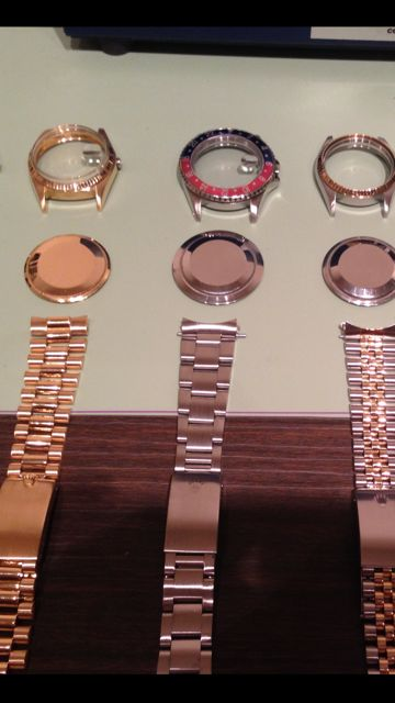 After photos of three Rolex watches that were overhauled and cleaned.