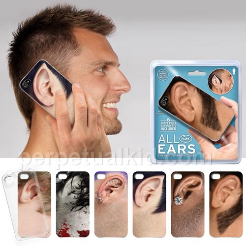 Not available until May 2012. This all ear's iPhone case for guys comes with a cover + 6 different ear designs.