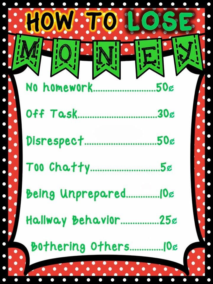 classroom management system using pretend money