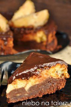 niebo na talerzu: Najlepsze ciasto - brownie z sernikiem jogurtowym