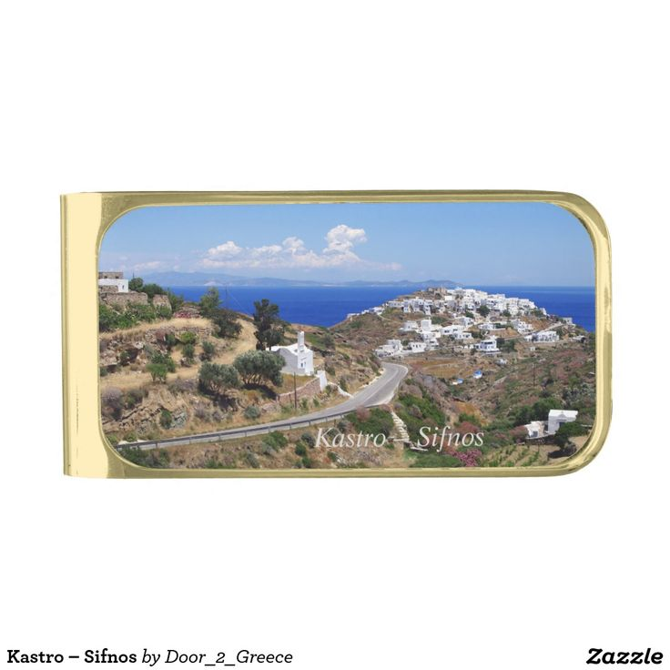 Kastro – Sifnos Gold Finish Money Clip