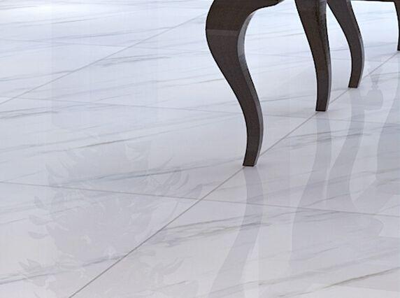 Super White Polished Porcelain Floor Tiles www.ceramicyhh.com