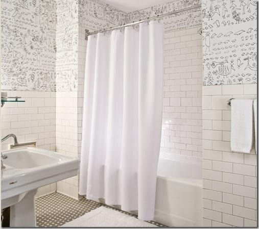 subway tile bathroom white